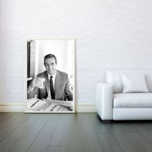 James Bond 007 - Goldfinger, Prints & Posters, Wall Art Print, Gifts For Men, Any Size - Black and White